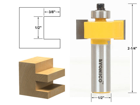 "1/2"" Slot Slotting & Rabbeting Router Bit - 1/2"" Shank - Yonico 14187"