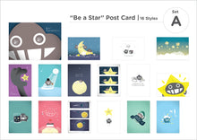 "Load image into Gallery viewer, Dustykid ""Be a Star"" 明信片 (Set A)"