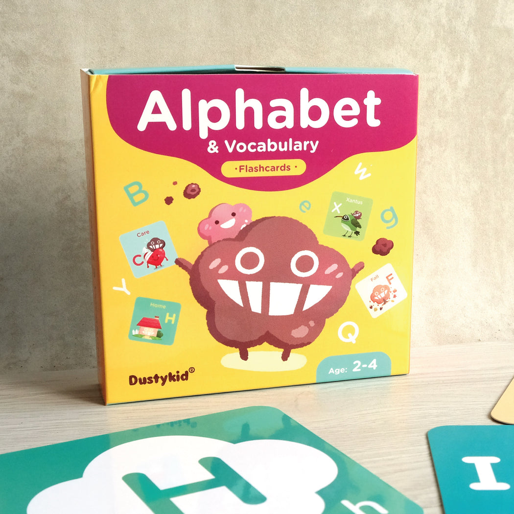 【Learning Card】 Alphabet & Vocabulary Flashcards