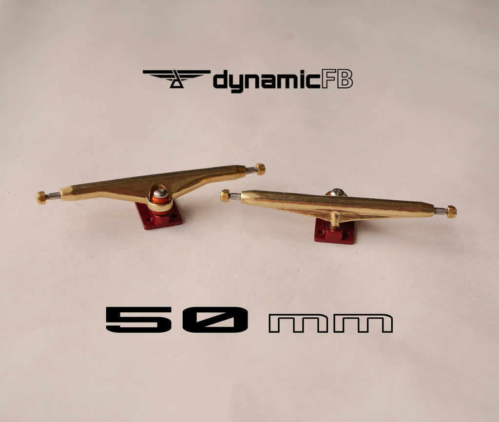 The first ever 50mm wide fingerboard trucks!