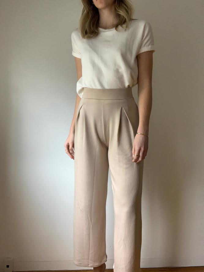 Corinne Erika Pleat Trouser Nude
