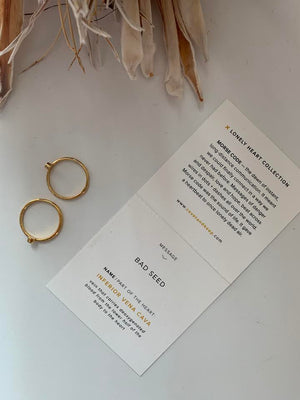 Covet & Keep 'Bad Seed & Bad Seed' Ring Set in Gold