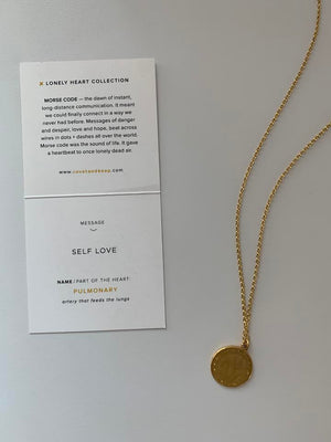 Covet & Keep 'Self Love'  Necklace in Gold