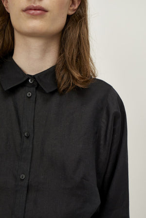 Load image into Gallery viewer, Just Female Linneda Shirt in Black