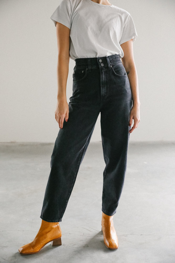 Agolde elasticated balloon jean in superstition