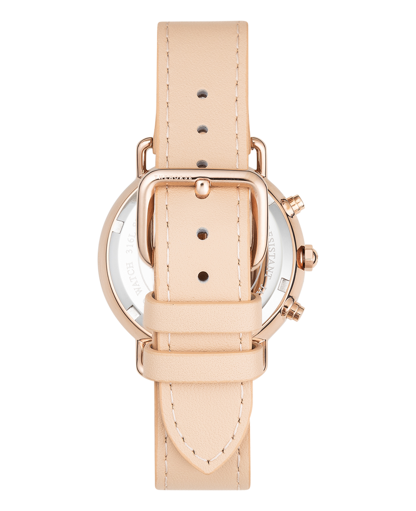 The Horse Mini Resin Chronograph Watch in Peach Speckle