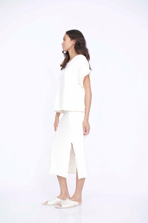 Corinne Gracie T-Shirt in Ivory