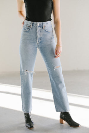 Agolde 90s Mid Rise Loose Fit Jeans in Captured