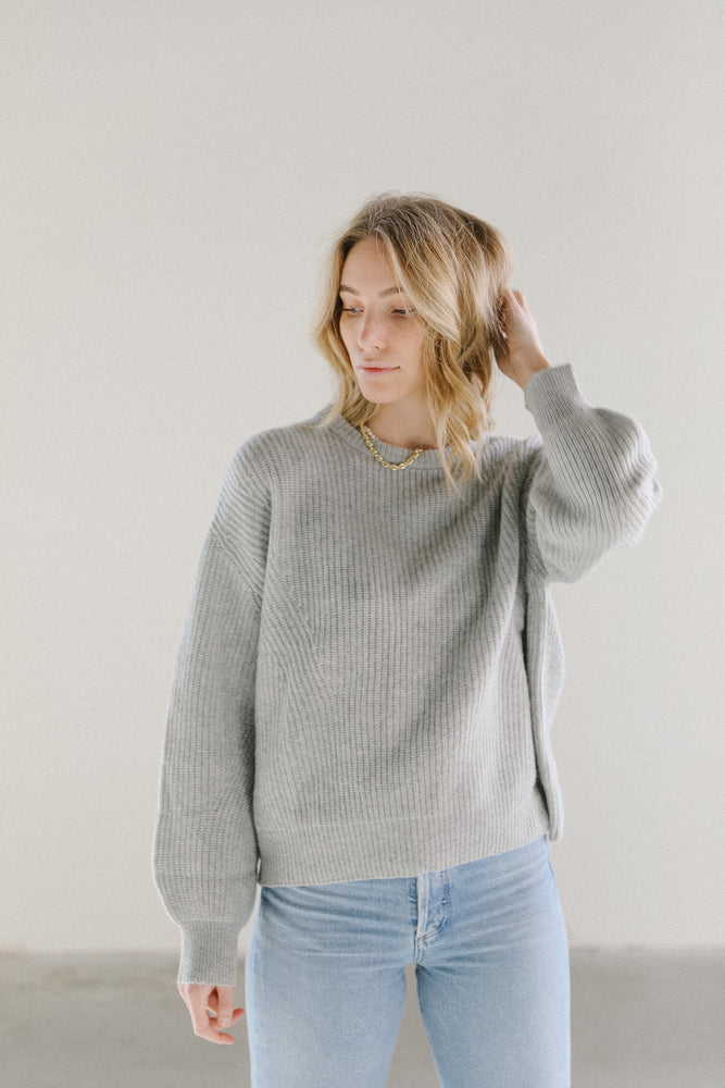 Load image into Gallery viewer, 7115 by Szeki Poet Sleeve Sweater in Husky
