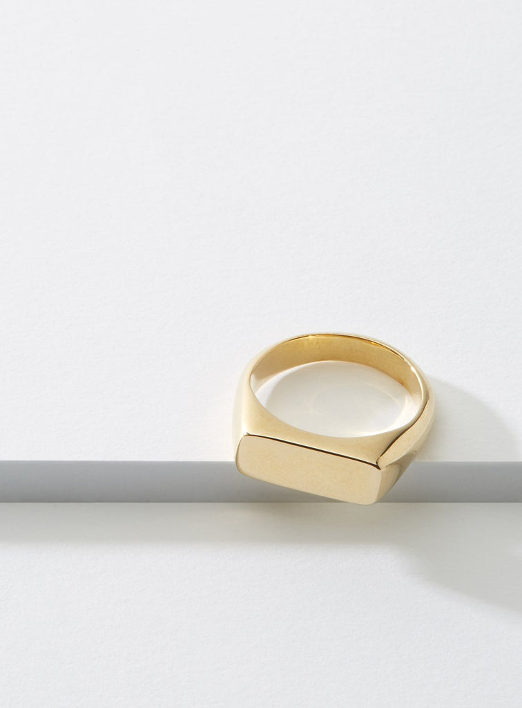 Cadette Even Signet Hand Made Ring in Gold