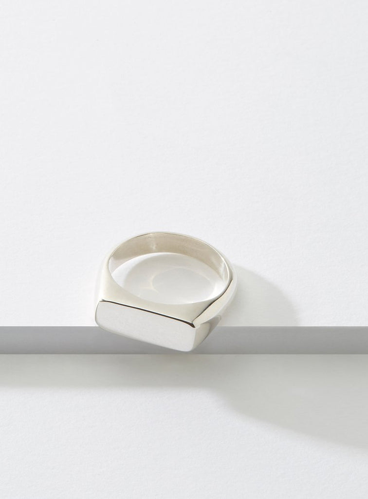 Cadette Even Signet Hand Made Ring in Silver