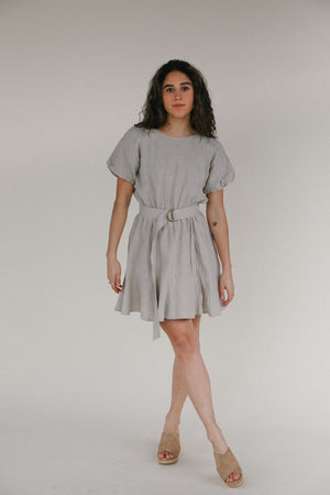 Load image into Gallery viewer, Rowie Dara Mini Dress in Almond