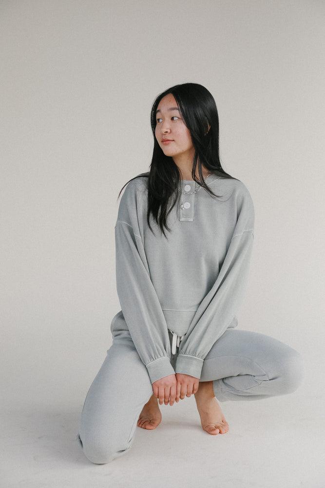 Rails Erin Henley Sweatshirt in Sage
