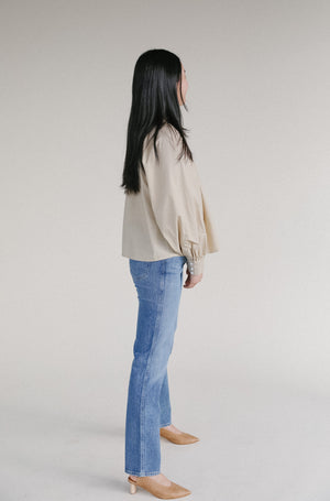 Levi's Gillian Mock Neck Longsleeve in safari