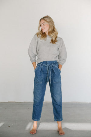Citizens of Humanity Noelle Belted Cargo Jean in Sweet Sea