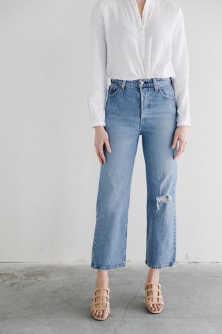 Levi's Ribcage High-Rise Straight Leg in Haters Gonna Hate