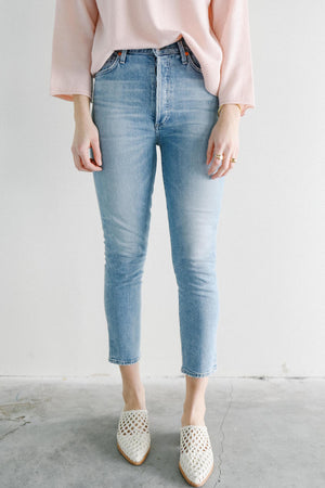 Citizens of Humanity Olivia Crop Denim in Renew