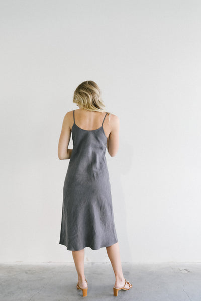 Filosofia Ivy Slip Dress in Washed Black