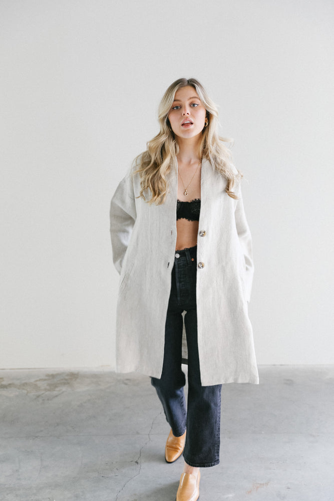 Load image into Gallery viewer, Filosofia Sienna Linen Duster Jacket