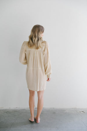 All That Remains Edie Shirt Dress in Almond