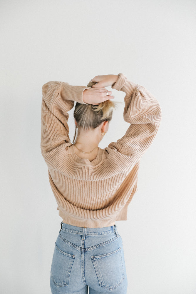 Load image into Gallery viewer, Rowie Ines Knit Sweater in Honey Brown