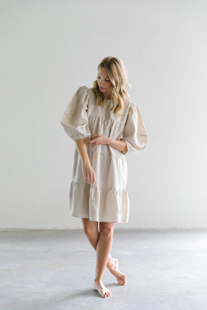 Lanhtropy Amber Linen Dress