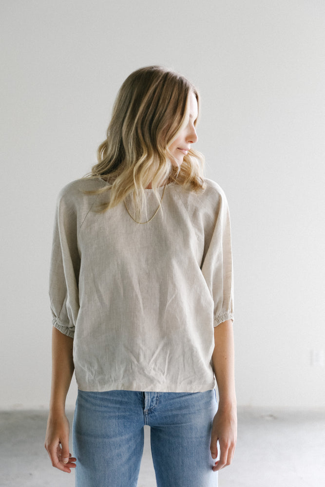 Lanhtropy Spirit Linen Shirt in Natural