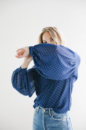 Just Female Milou blouse in Dark Blue