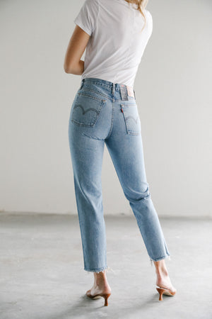 Wedgie Icon Fit in Shut Up Denim
