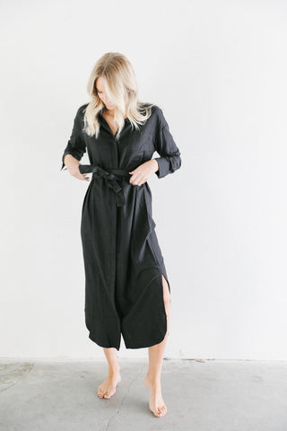 Bahhgoose Inge Longsleeve Dress in Black