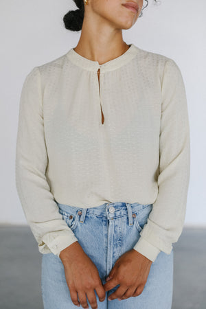 Load image into Gallery viewer, Sunad Carmen Hueso Longsleeve Blouse