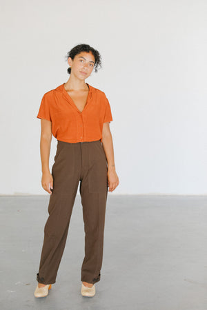 Load image into Gallery viewer, Lacausa Almond Margot Blouse