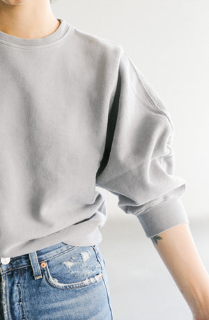 Agolde Thora Sweatshirt in Zinc