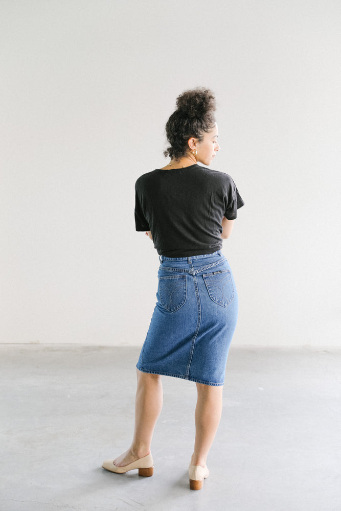 Rolla's High Pencil Denim Skirt