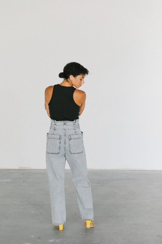 Load image into Gallery viewer, Agolde Aden Paperbag Utility Denim Pant
