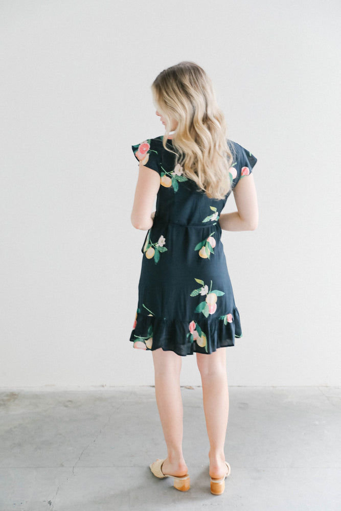 Load image into Gallery viewer, Rails Koreen Black Grapefruit  Dress