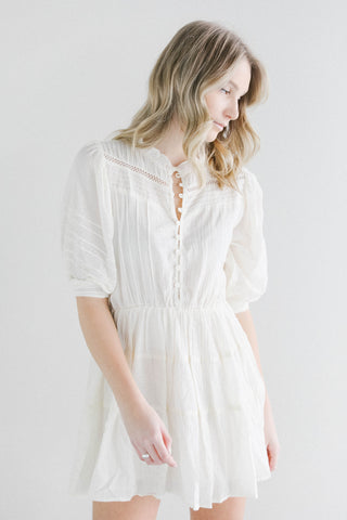 Rowie the Label Anrielle Dress in Cream