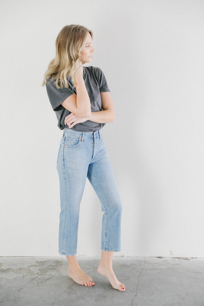 Citizens of Humanity Emery Relaxed Crop Jeans in Tularosa