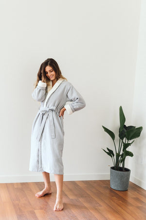 Tofino Towel Nordic Fleece Robe in Grey