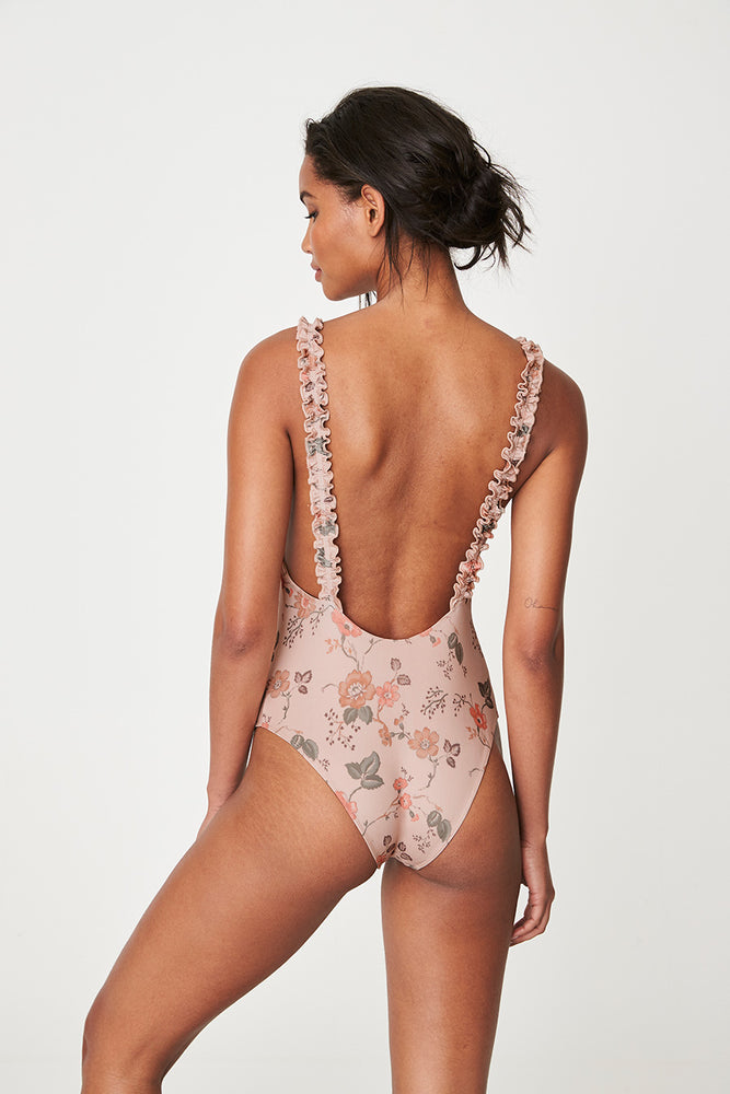 Rowie Holiday One Piece Swim in Meadow