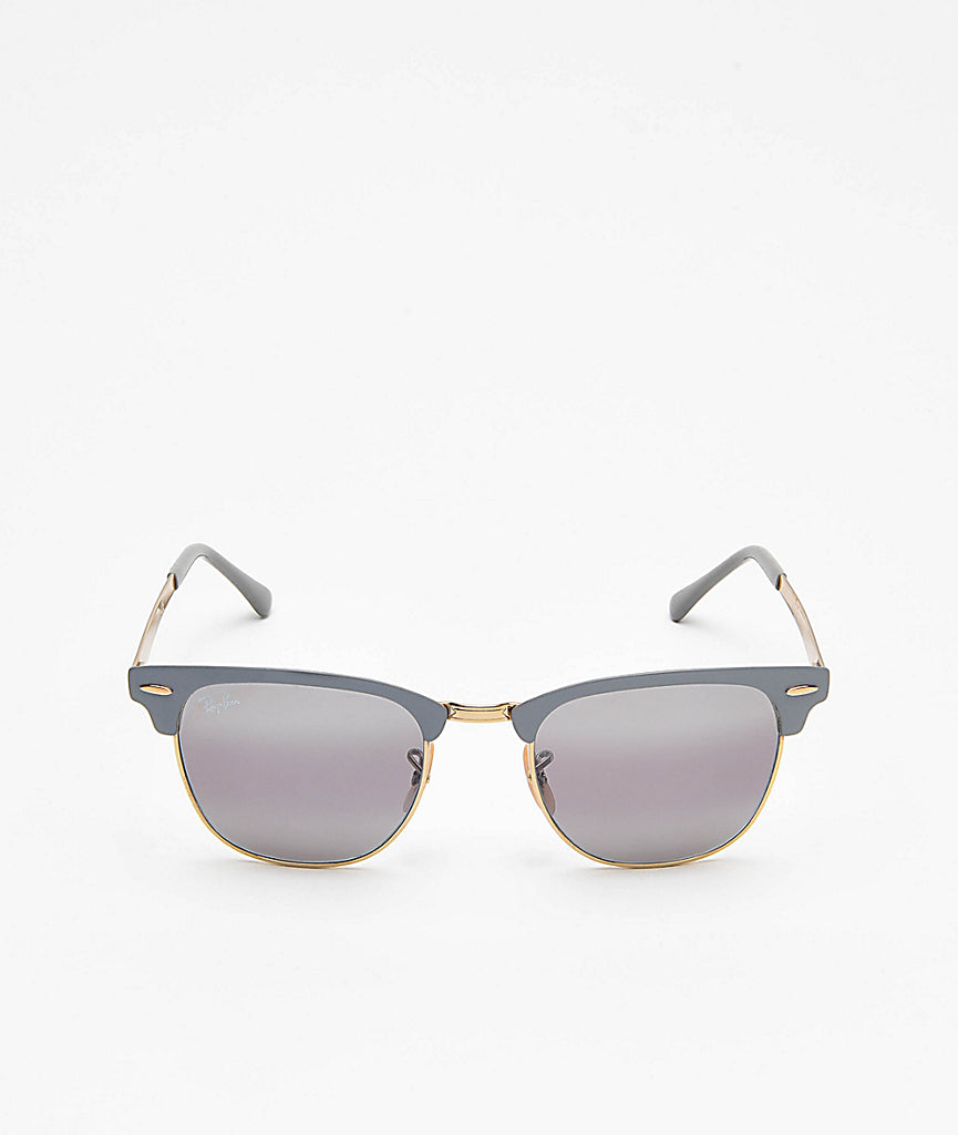Ray Ban Clubmaster Metal Grey and Gold
