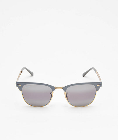 Ray Ban Clubmaster Metal Gold on Top Matte Grey