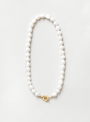 Wolf Circus Lola Pearl Necklace in Gold