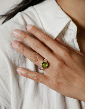 Wolf Circus Magda Ring in Peridot and Sterling Silver