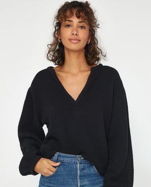 Palmer Blouse in Tar