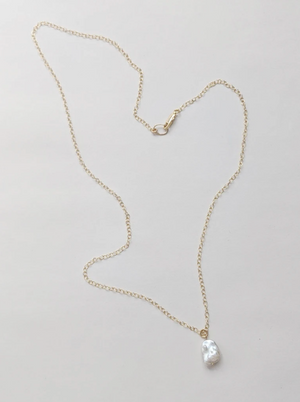 Little Gold Cloud Pearl Necklace