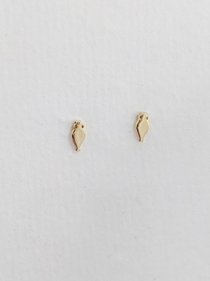 Little Gold Amphor Stud Earrings