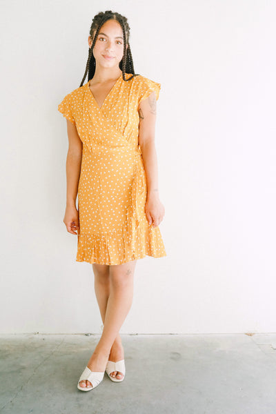 Rails koreen wrap dress in marigold
