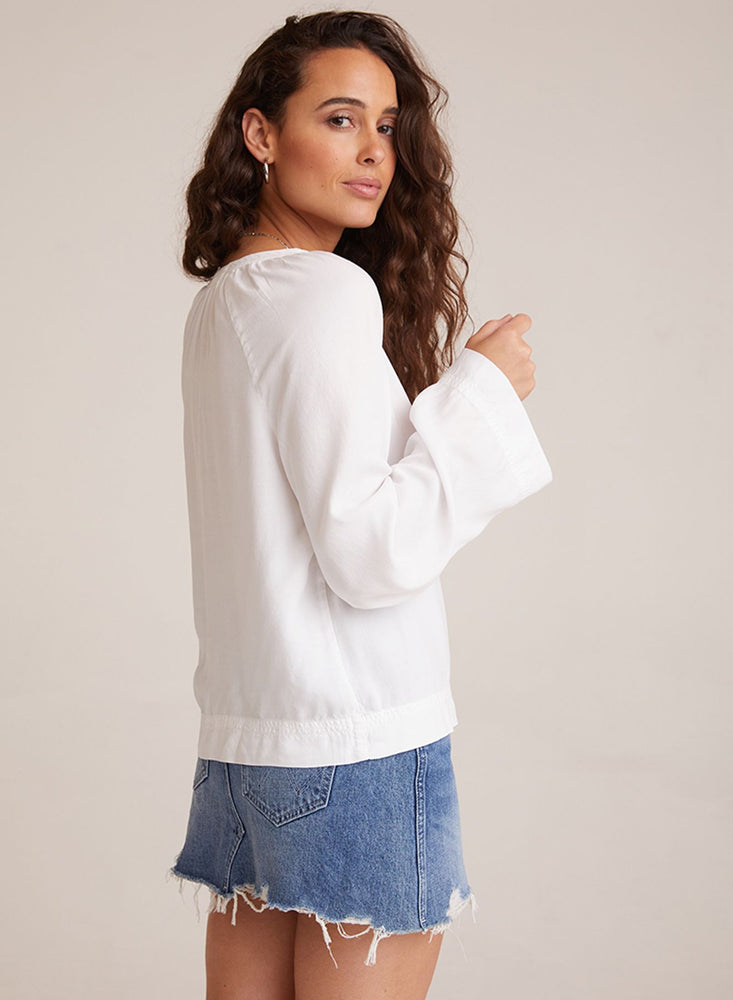 Bella Dahl FLowy Raglan Sleeve Shirt in White