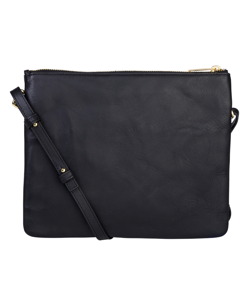 The Horse Double Pouch Bag in Black